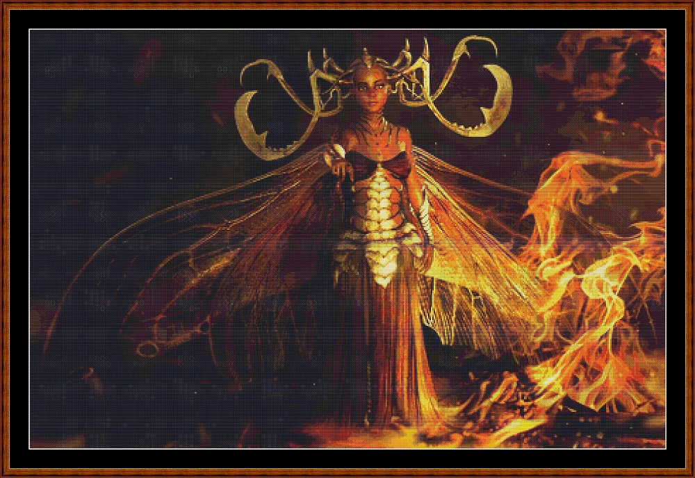 Fire Fairy Cross Stitch
