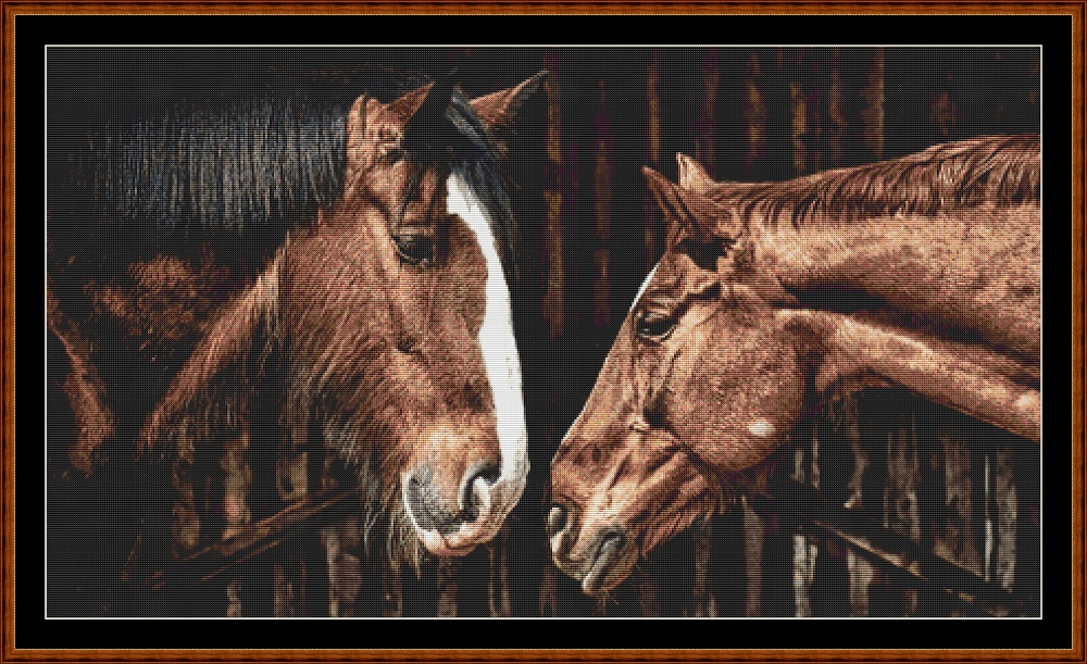Stable Gossip Cross Stitch