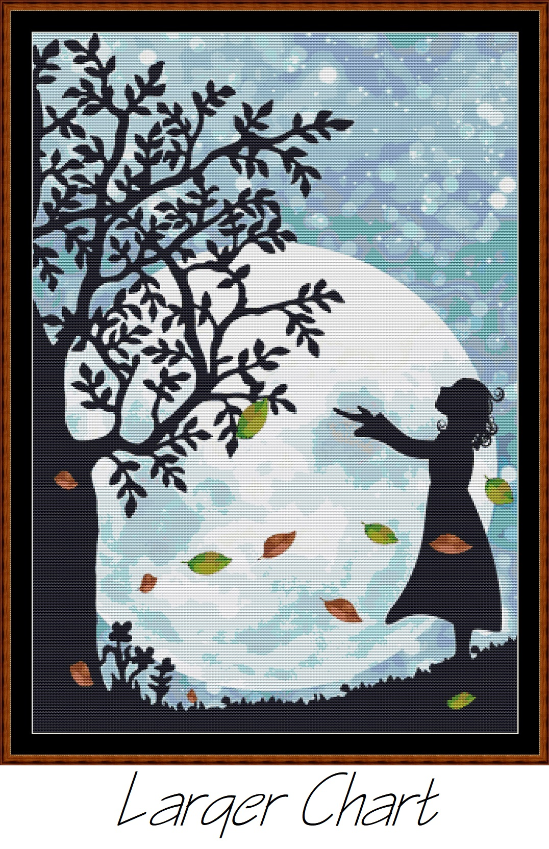 Autumn Moon Cross Stitch