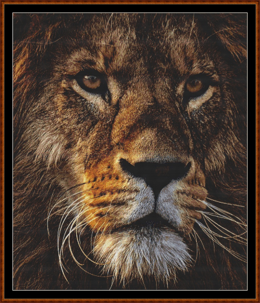 Fierce Creatures - Lion Cross Stitch