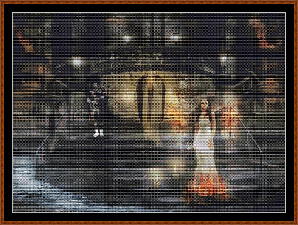 Spirit Realm Entrance Cross Stitch