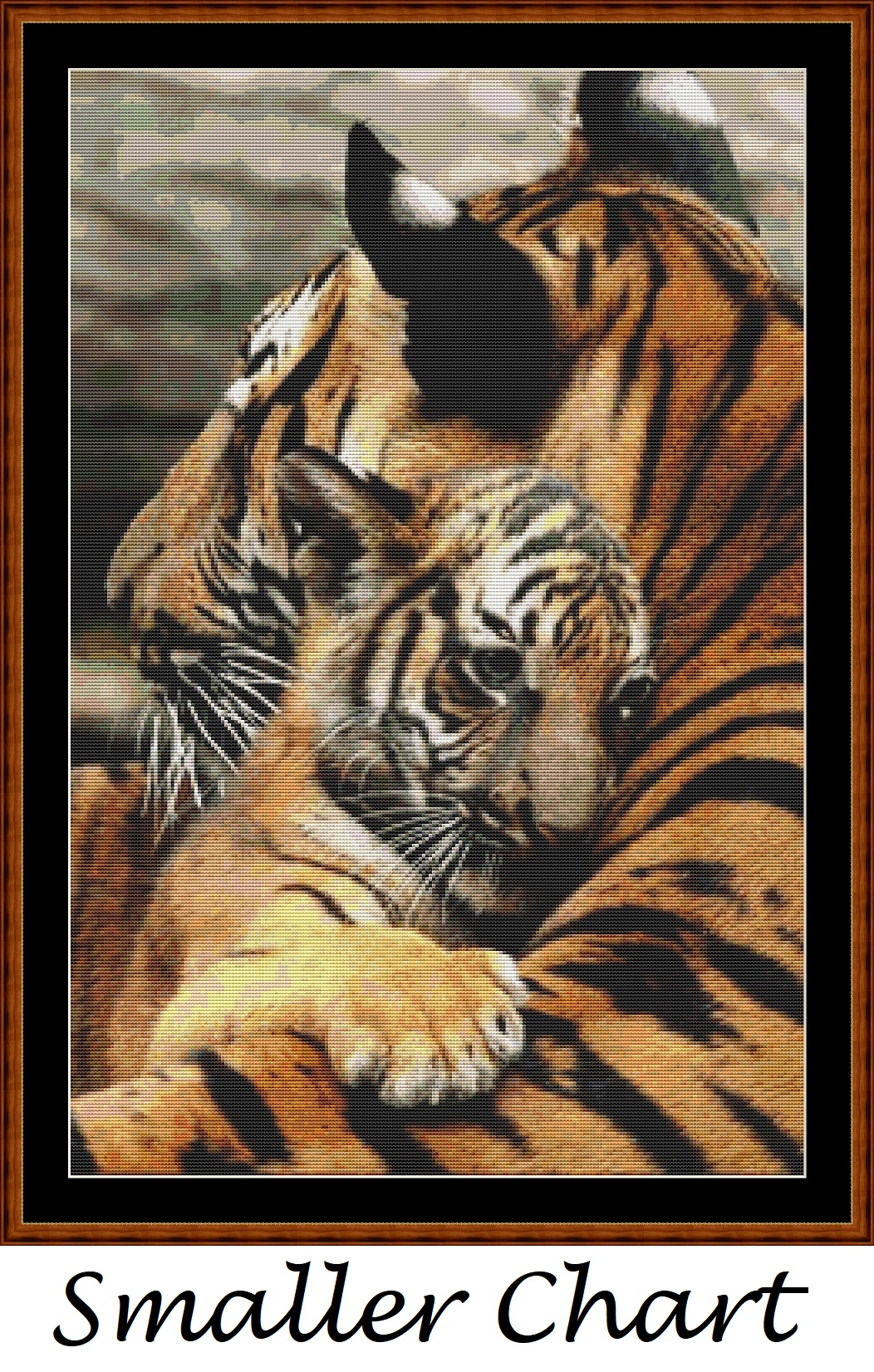 Mama's Hug - Tiger Cross Stitch - Click Image to Close