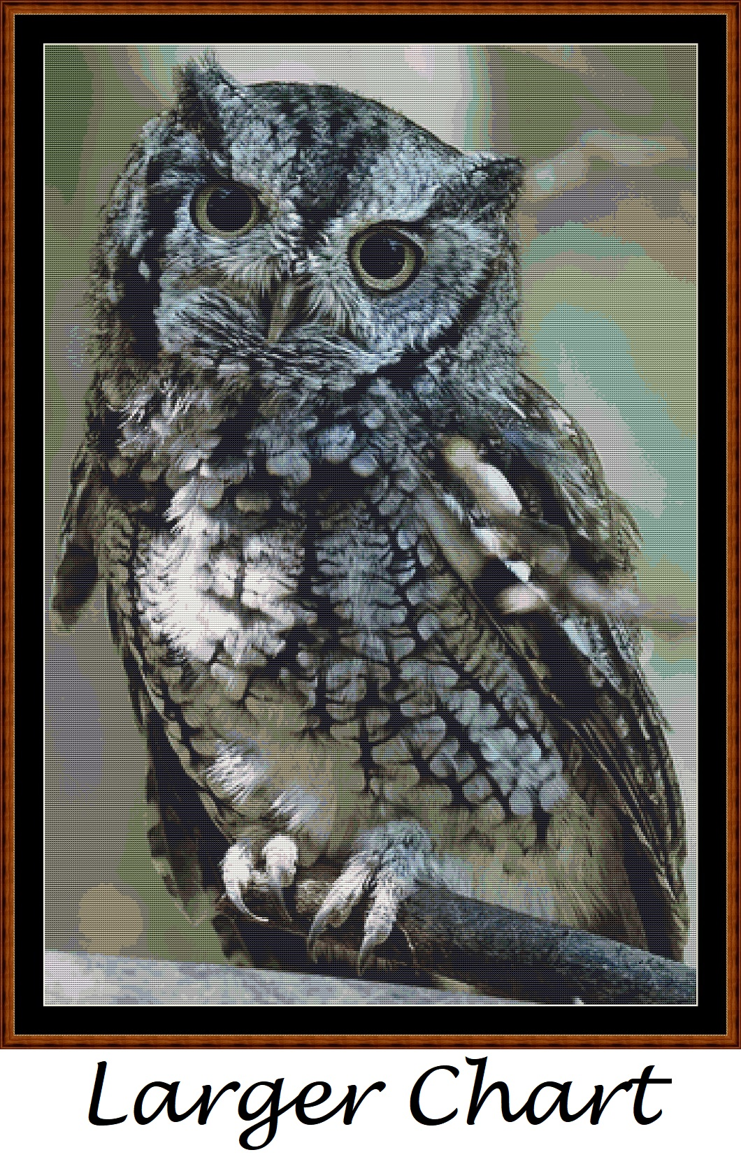 Eastern Screech Owl Cross Stitch - Click Image to Close
