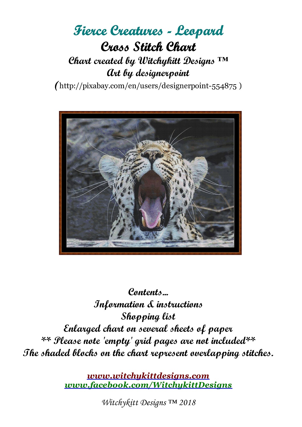 Fierce Creatures - Leopard Cross Stitch
