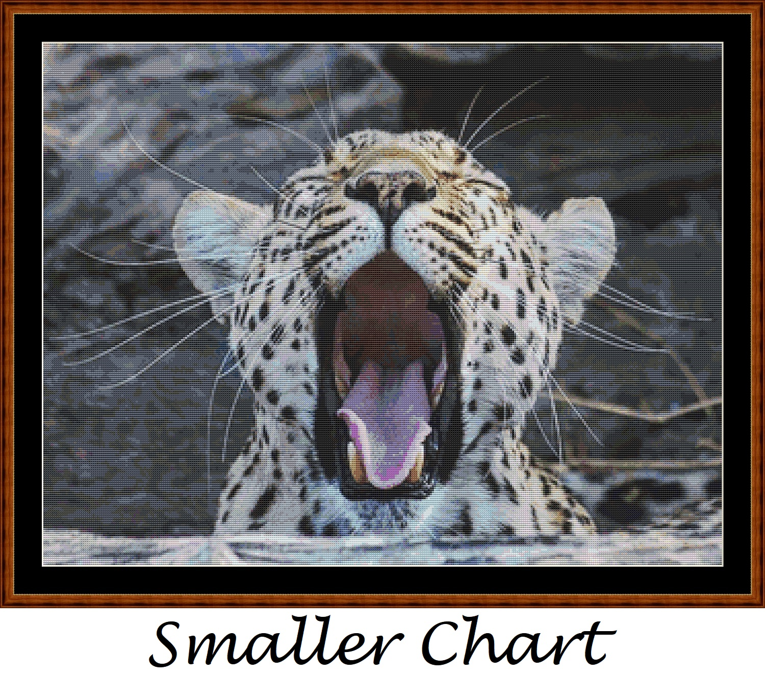 Fierce Creatures - Leopard Cross Stitch - Click Image to Close