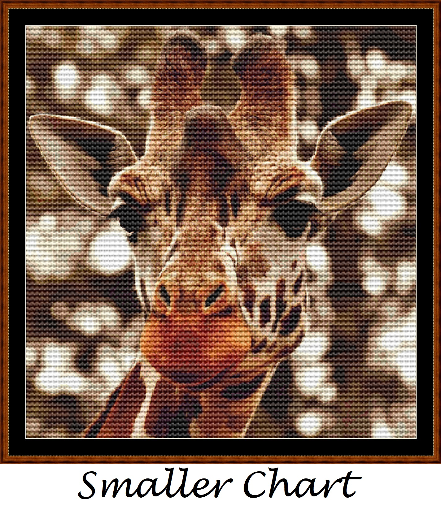 Giraffe Stare Cross Stitch - Click Image to Close