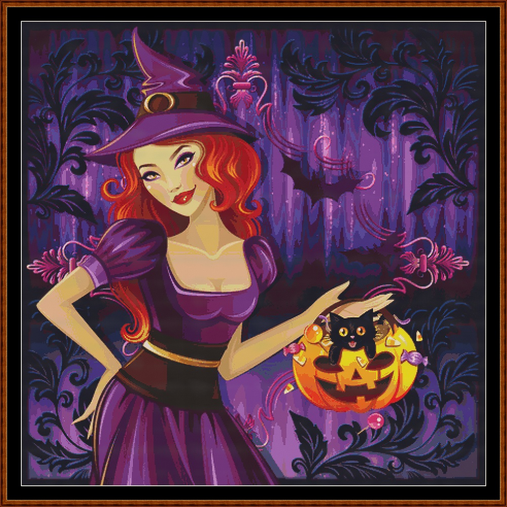 Witchy Treat Cross Stitch