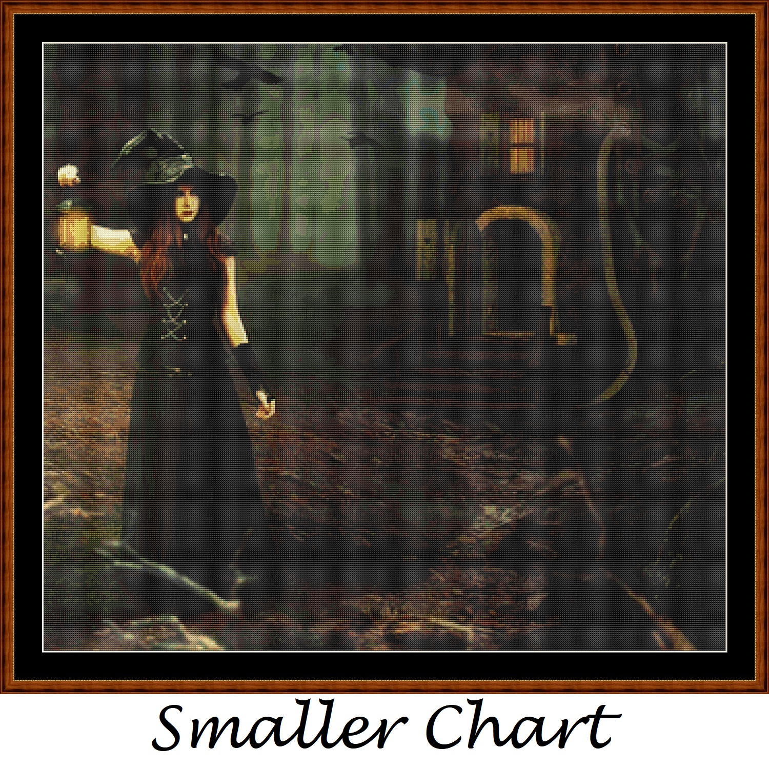 Witch's Home Cross Stitch