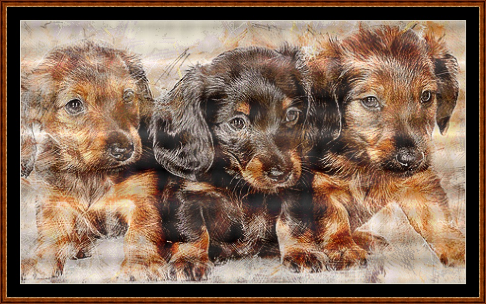 Puppy Portrait Cross Stitch