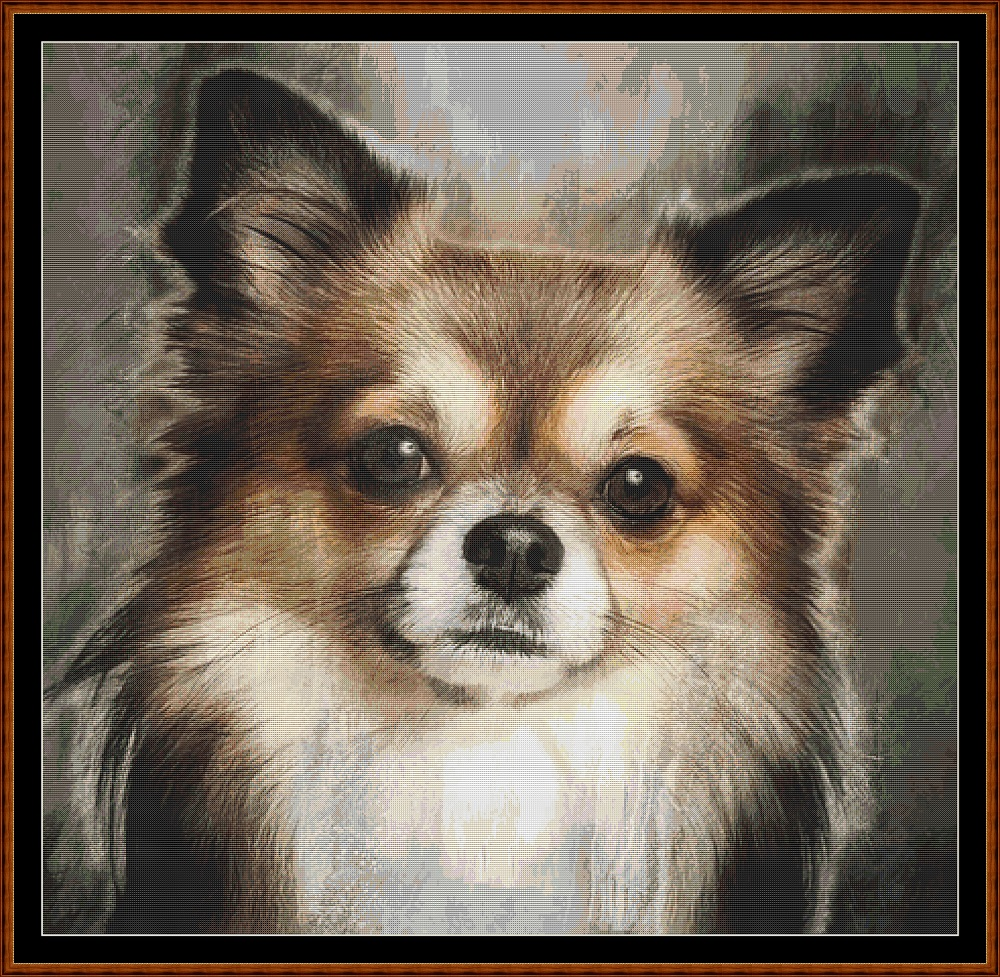 Chihuahua Portrait Cross Stitch
