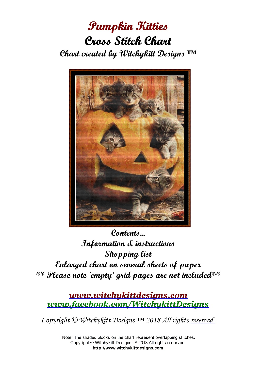 Pumpkin Kitties Cross Stitch - Click Image to Close