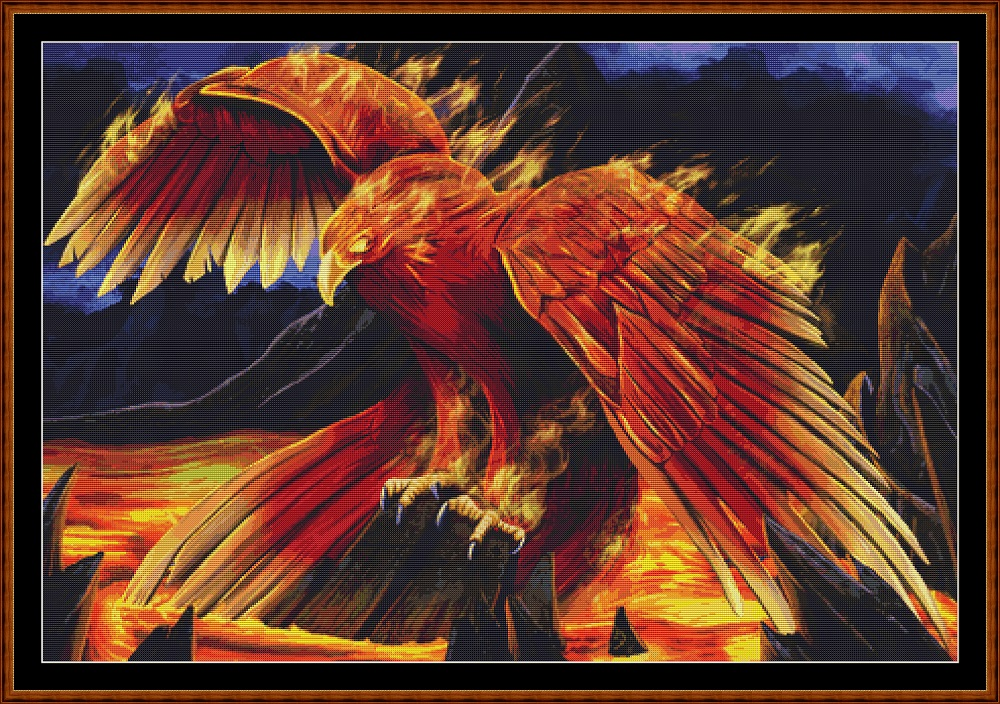 Phoenix Perch Cross Stitch