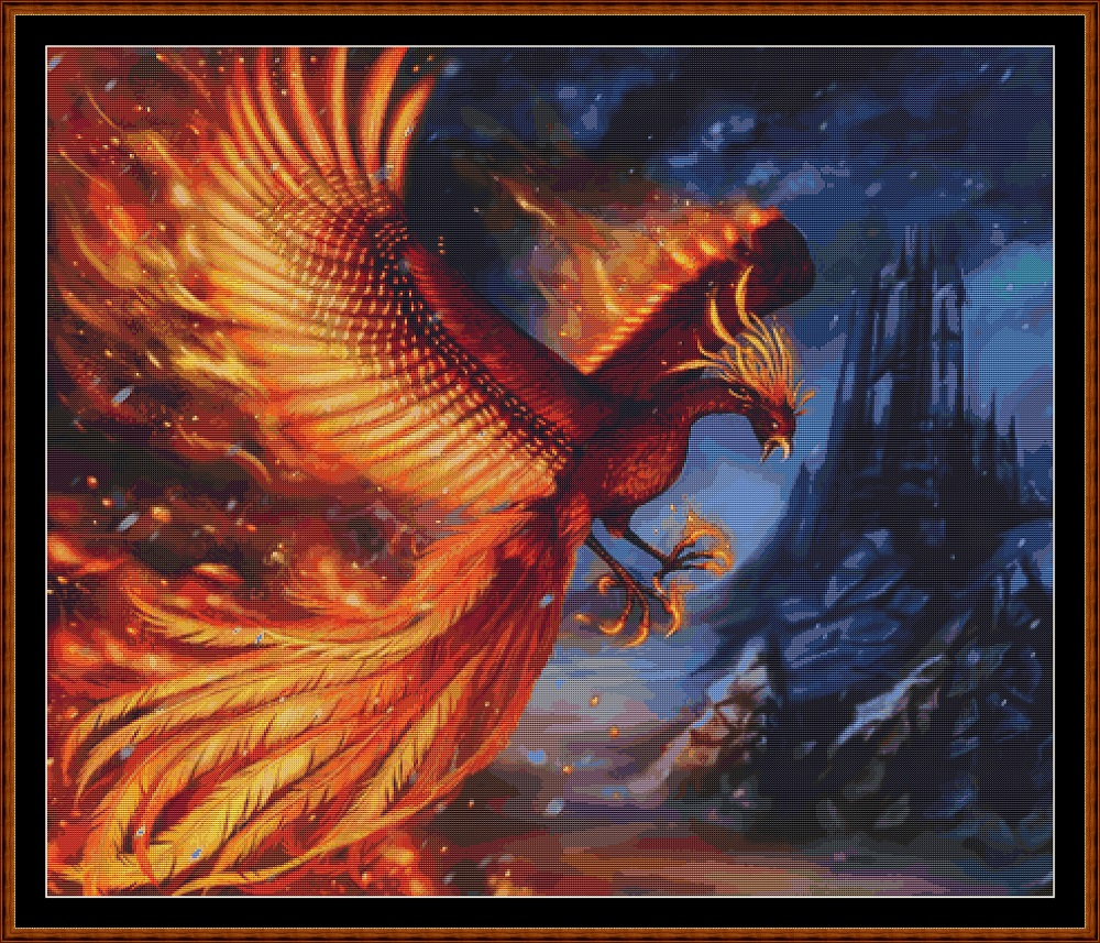 Phoenix Flight Cross Stitch