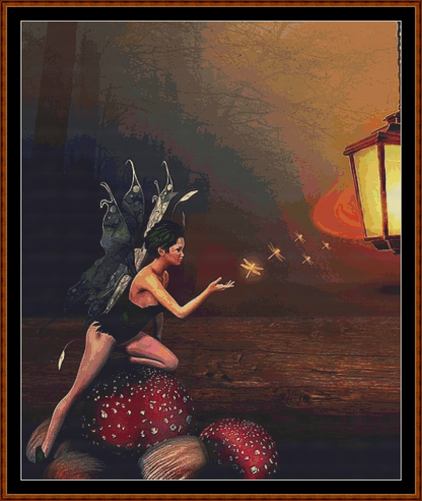 Lamplight - The Fairy Cross Stitch