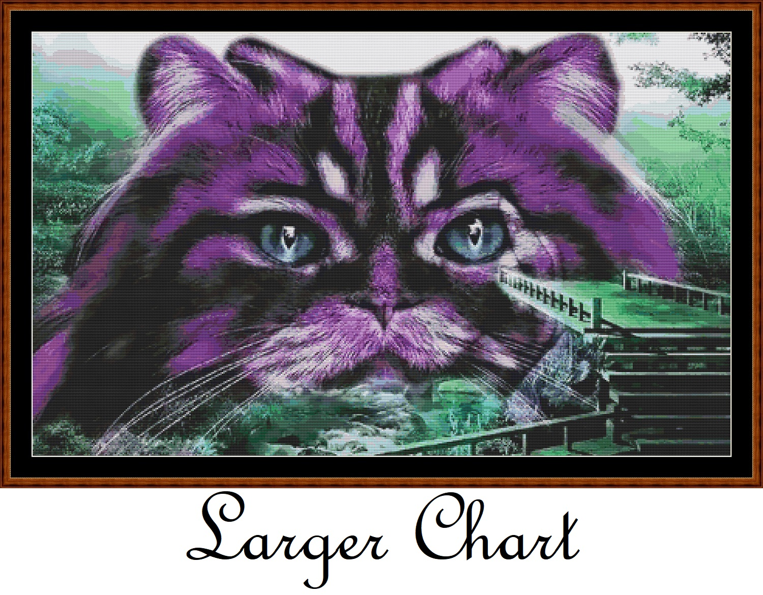 Purple Kitty Cross Stitch