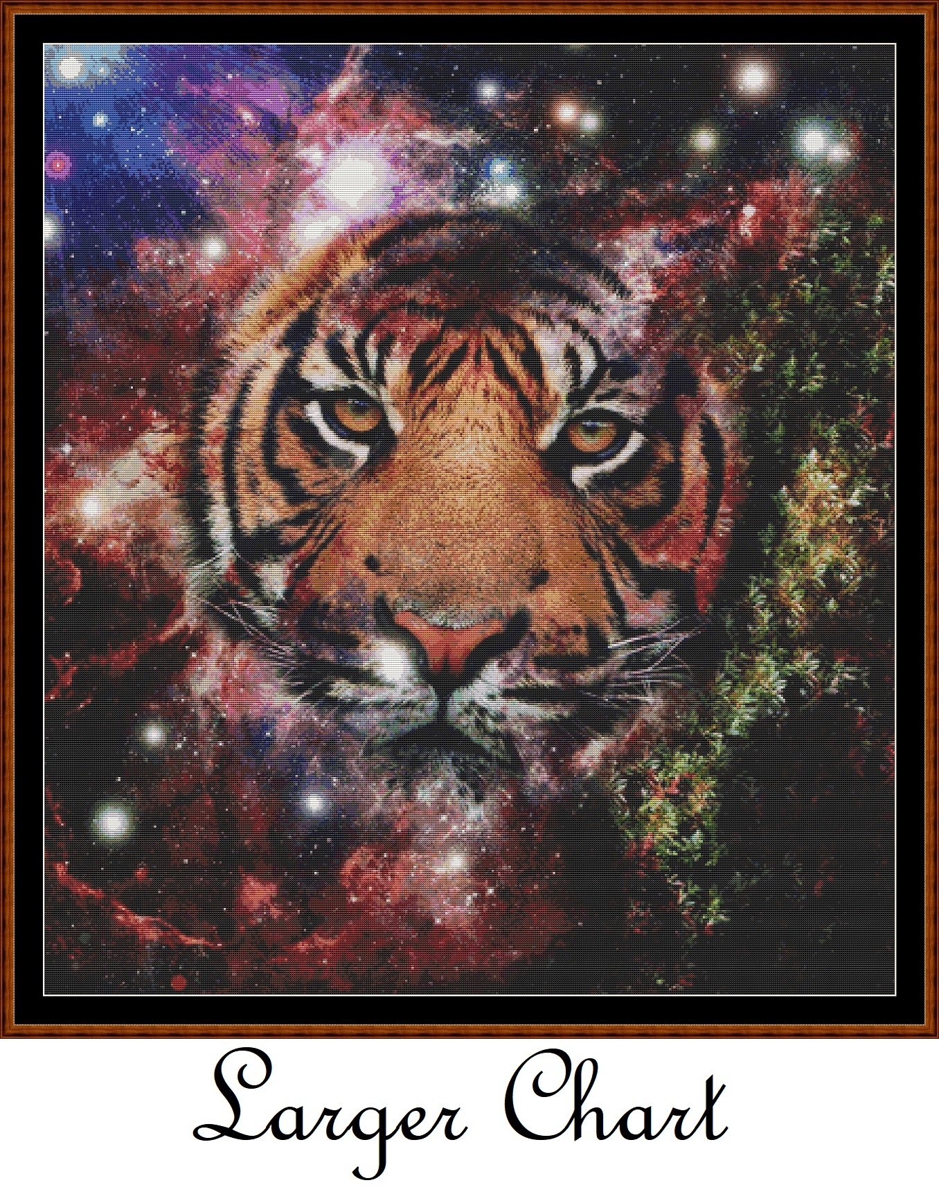 Space Kitty Cross Stitch - Click Image to Close