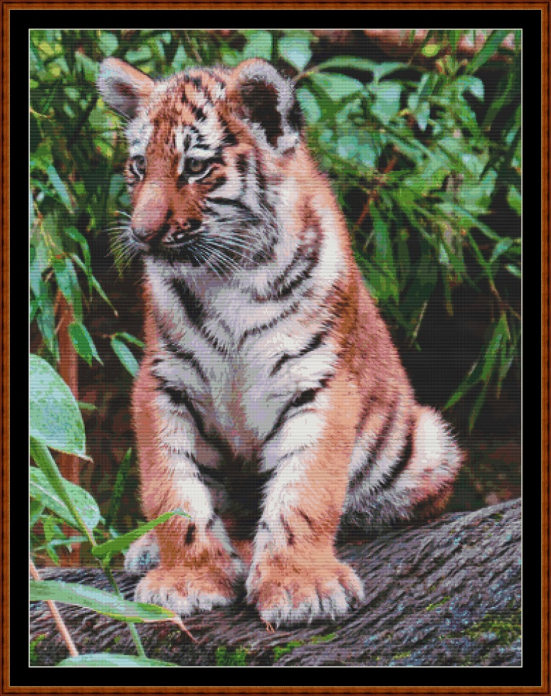 Fierce Babies - Tiger Cross Stitch