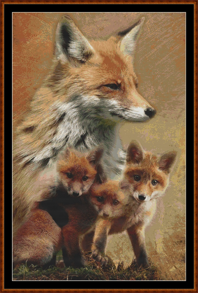 Spirit Guides - Fox Cross Stitch