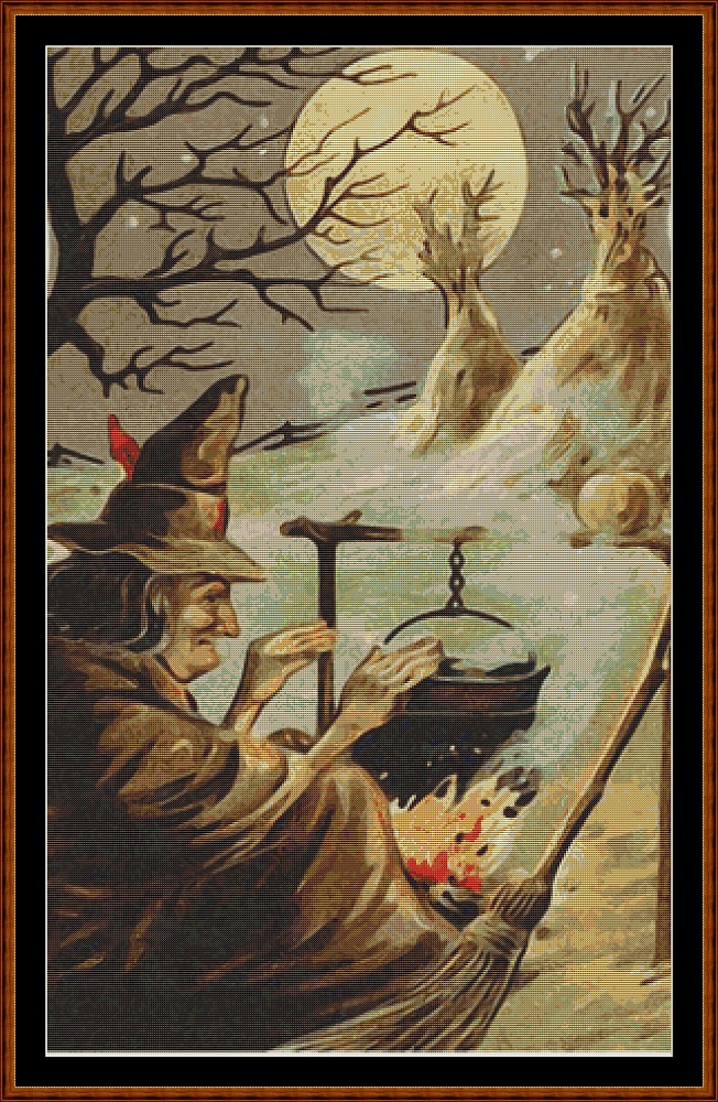 Harvest Witch Cross Stitch
