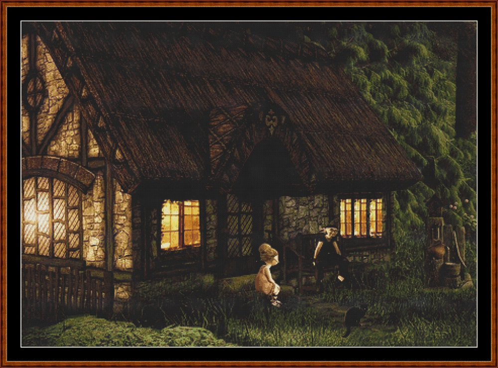 Forest Dwelling Cross Stitch