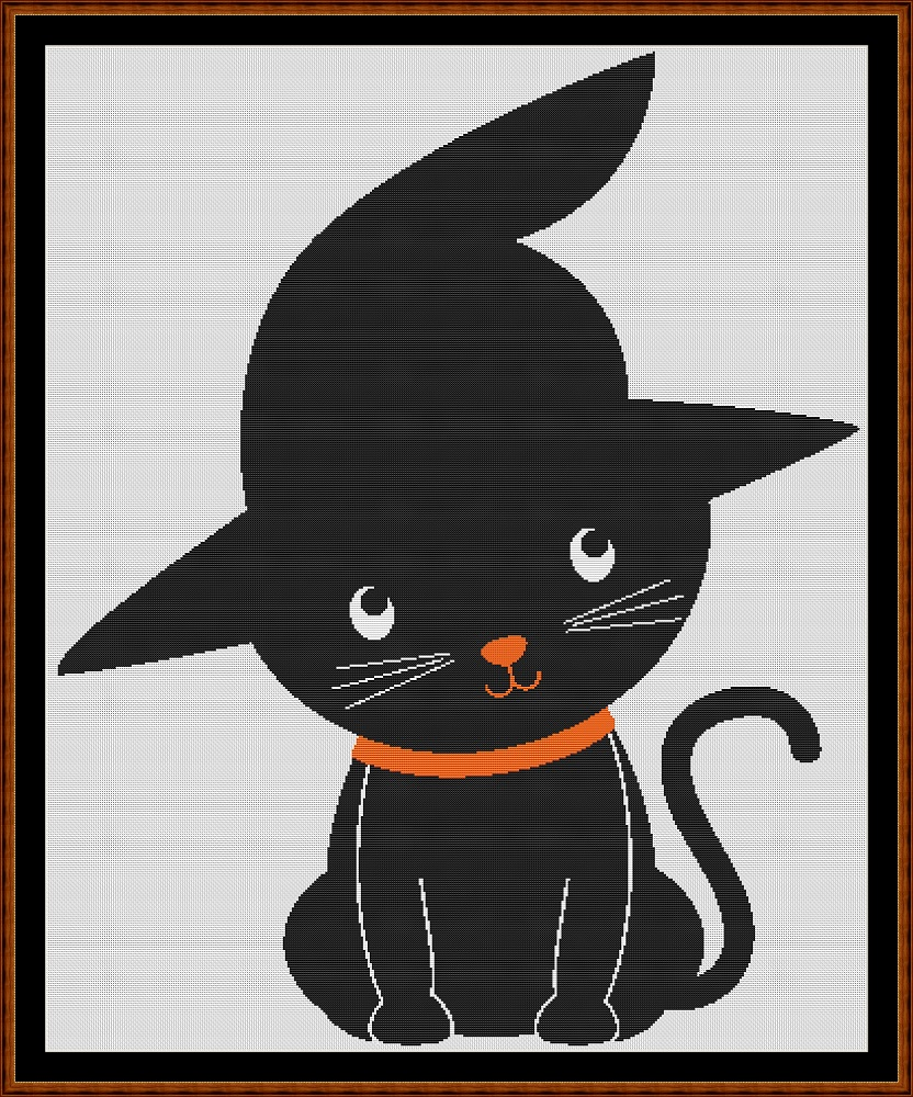 Witchy Cat Cross Stitch
