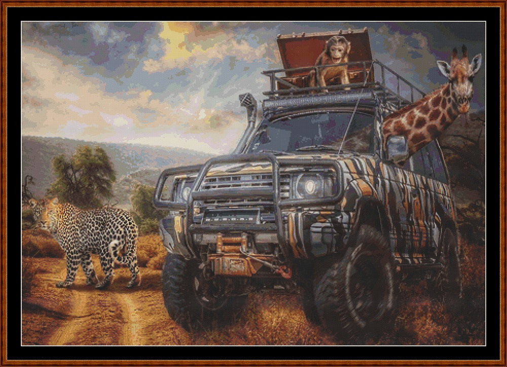 On Safari Cross Stitch