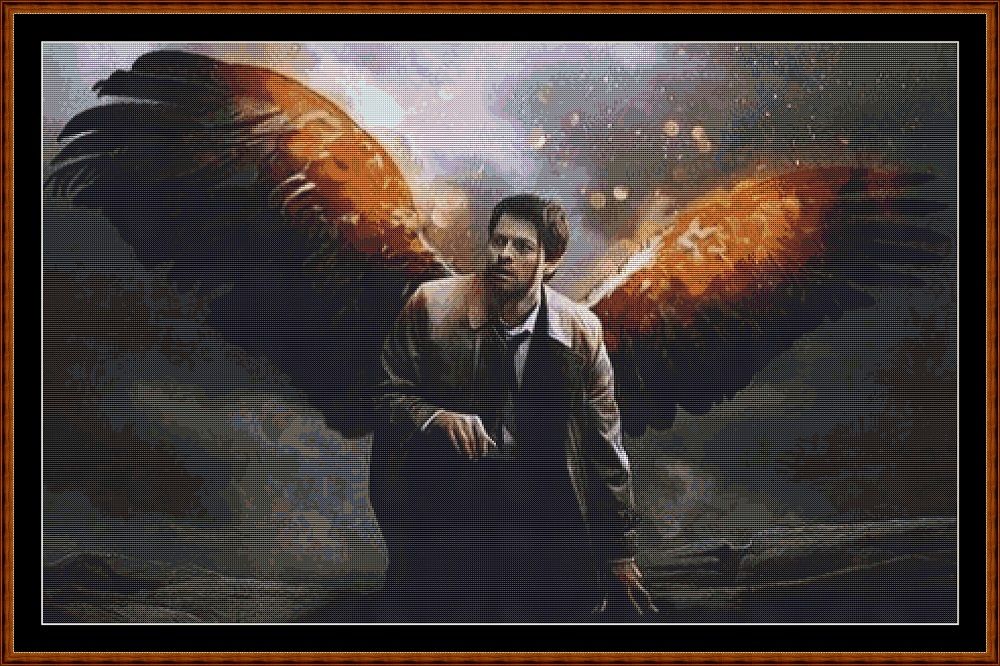 Supernatural - Castiel Cross Stitch