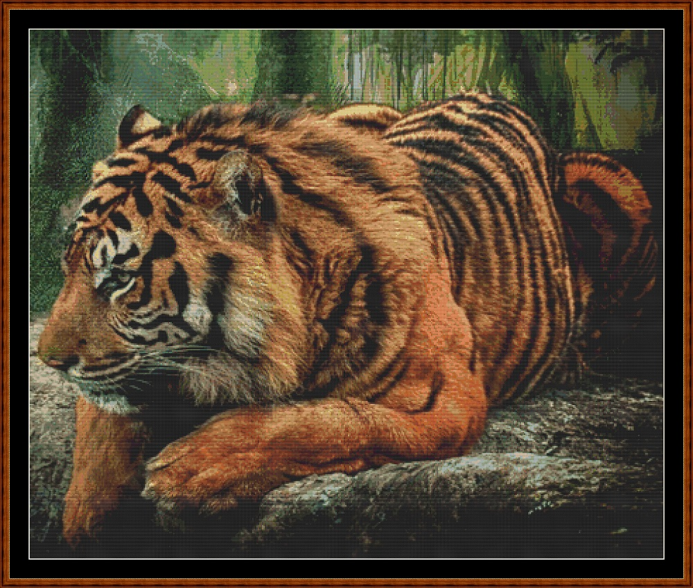 Forest Tiger Cross Stitch