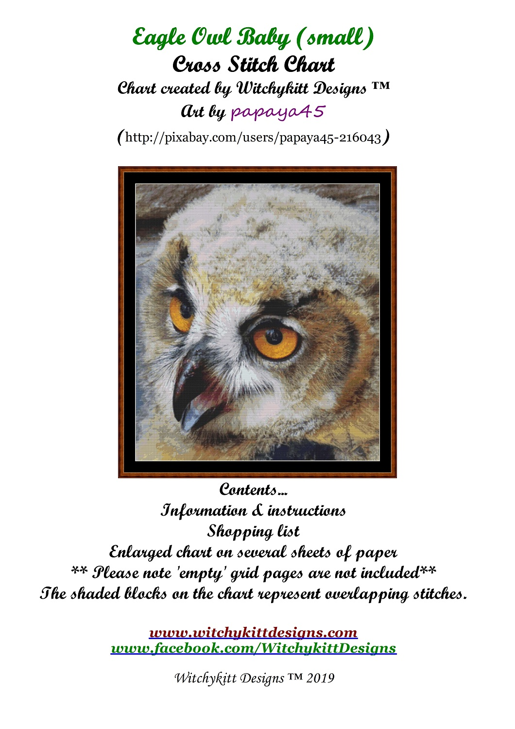 Eagle Owl Baby Cross Stitch