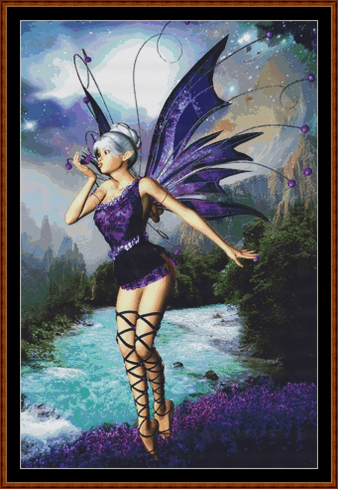 Violet Fairy Cross Stitch