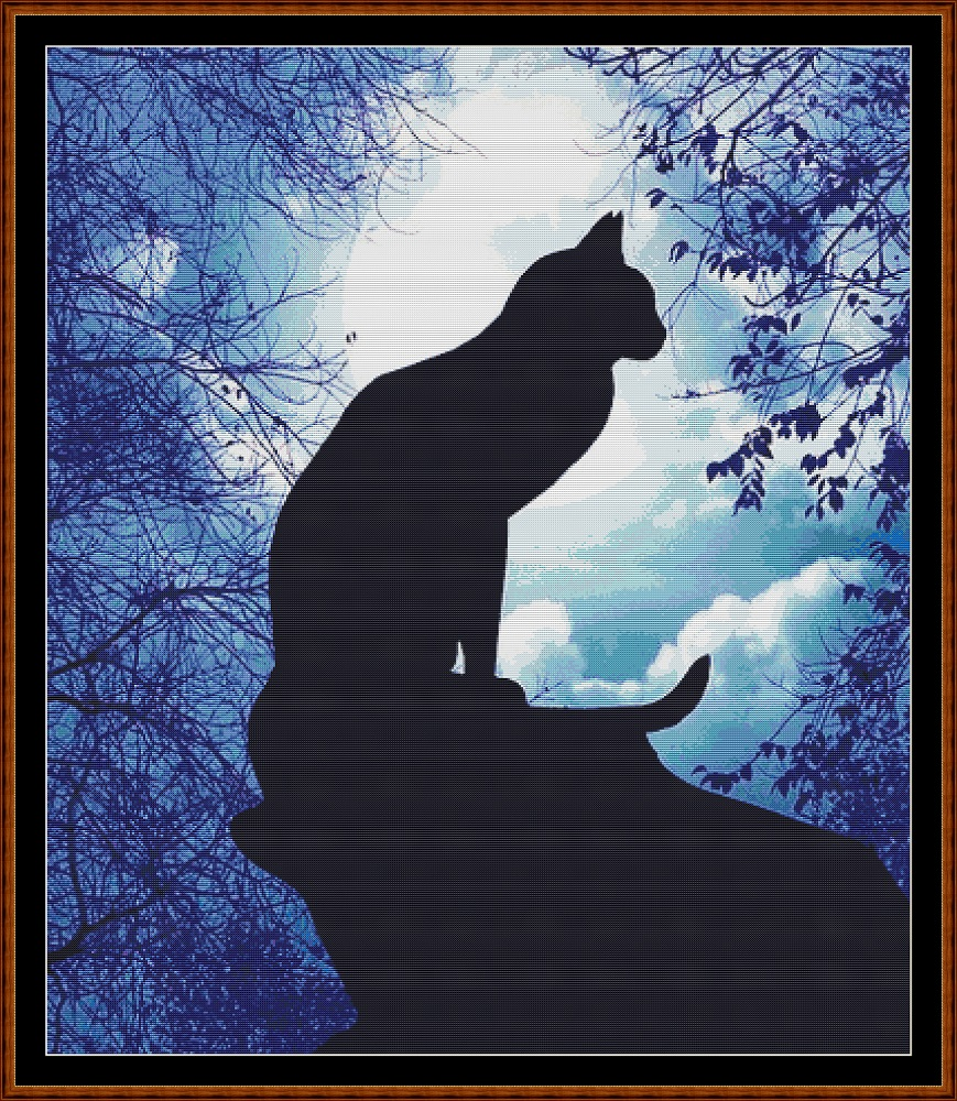 Cat Silhouette Cross Stitch