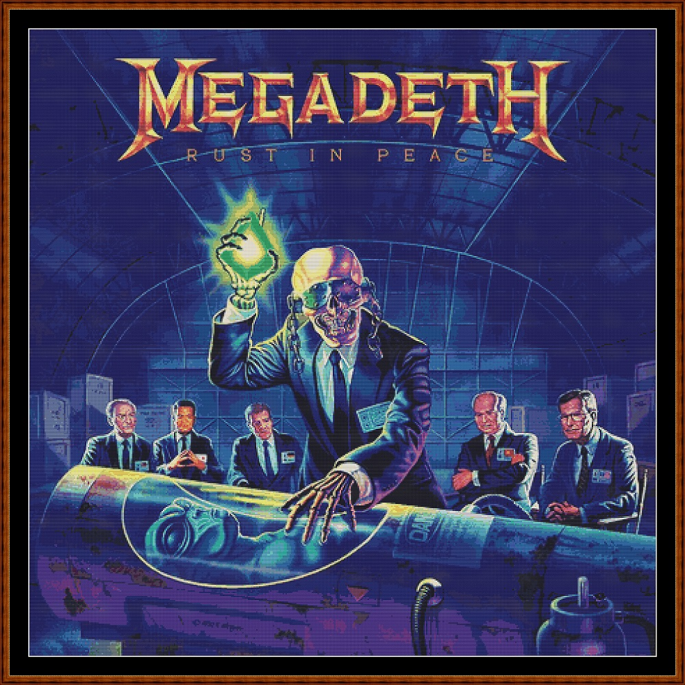 Megadeth - Rust In Peace Cross Stitch