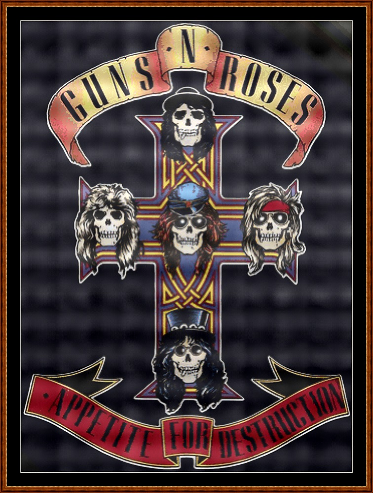Guns N' Roses - Appetite For Destruction Cross Stitch