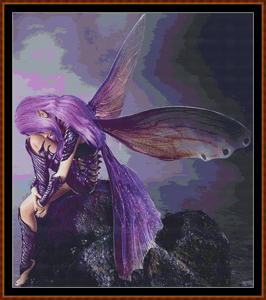 Lavender Fairy Cross Stitch