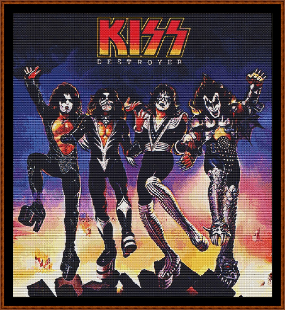 Kiss - Destroyer Cross Stitch