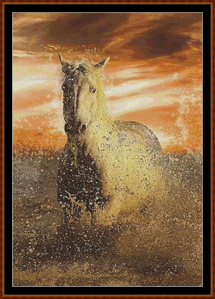 Sunset Gallop Cross Stitch