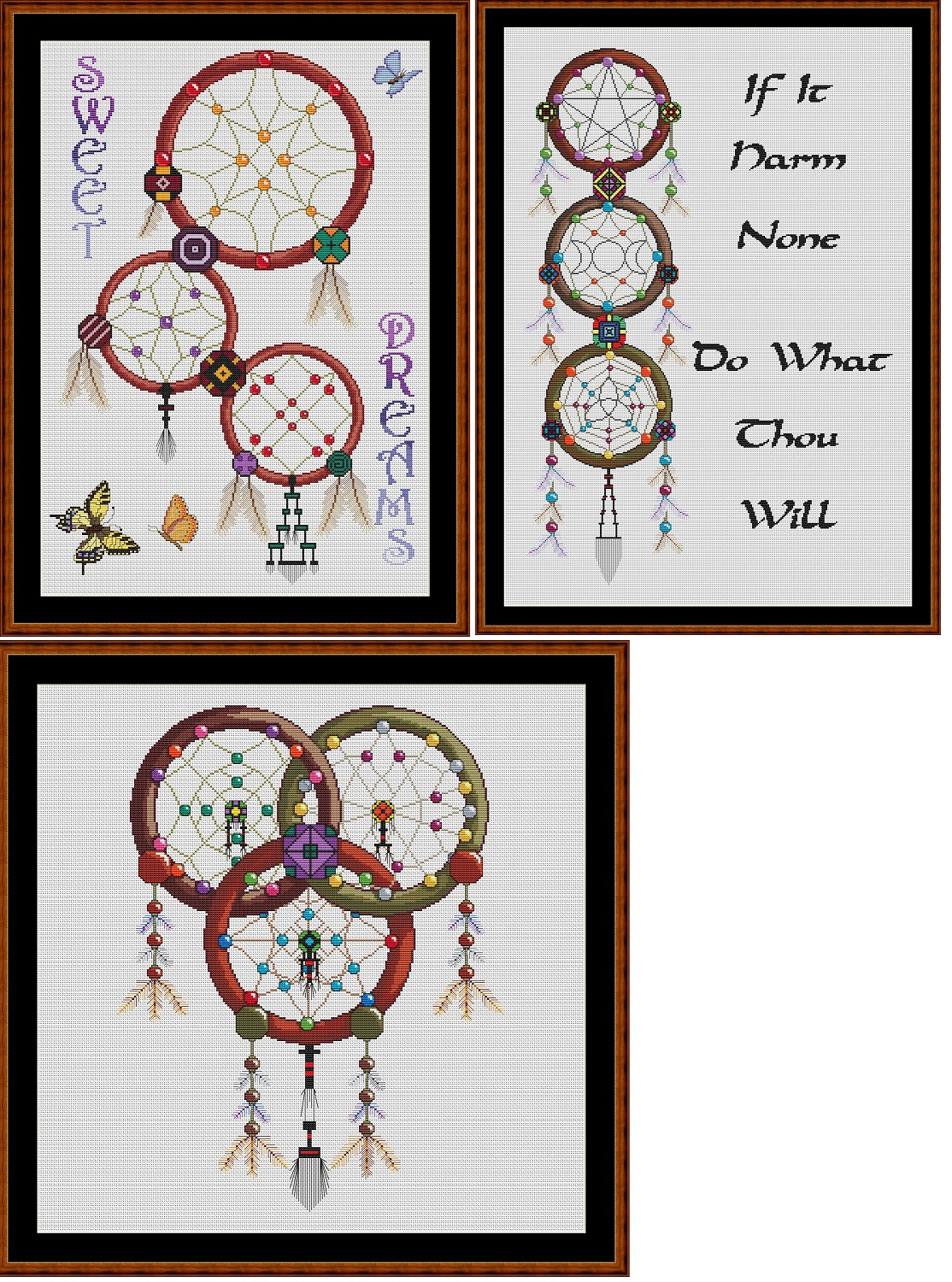 Dreamcatchers Cross Stitch pack - 3 charts