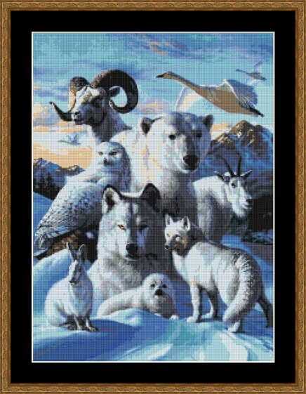 Arctic Friends Cross Stitch