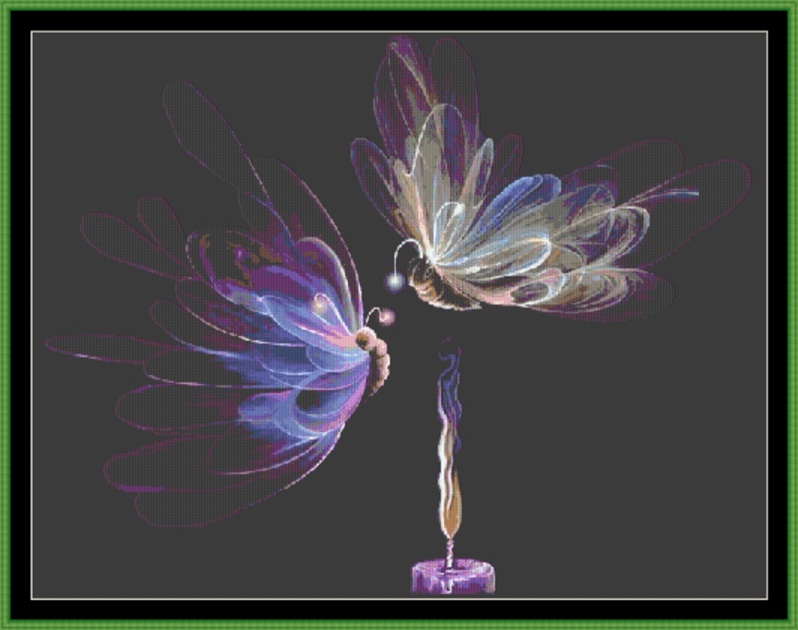 Butterfly Fairies Cross Stitch