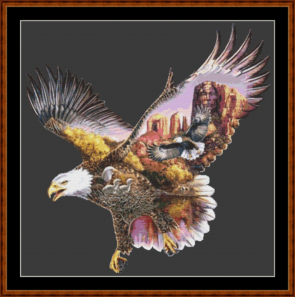 Eagle Flight Cross Stitch