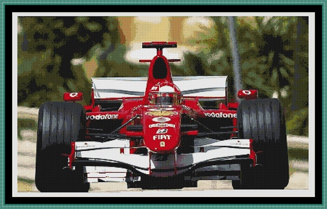 F1 Cross Stitch
