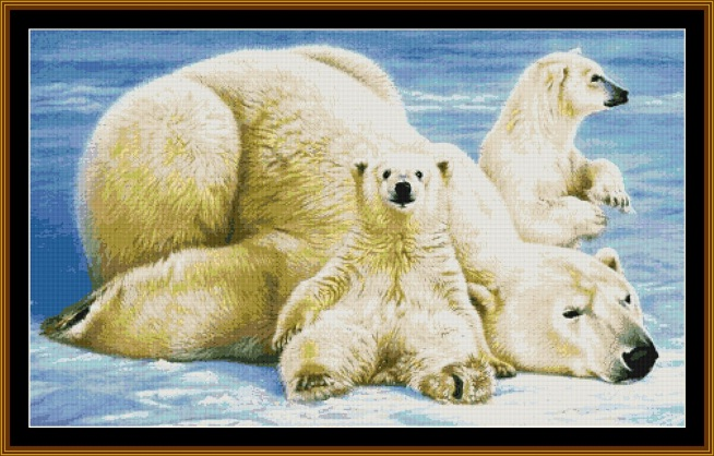 Polar Bears Cross Stitch