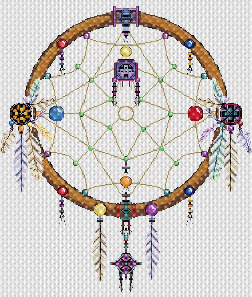Dreamcatcher - Single Ring Cross Stitch