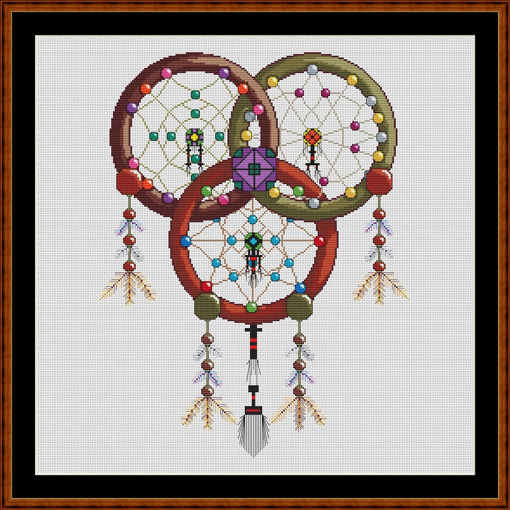 Dreamcathcer - Triquetra Cross Stitch