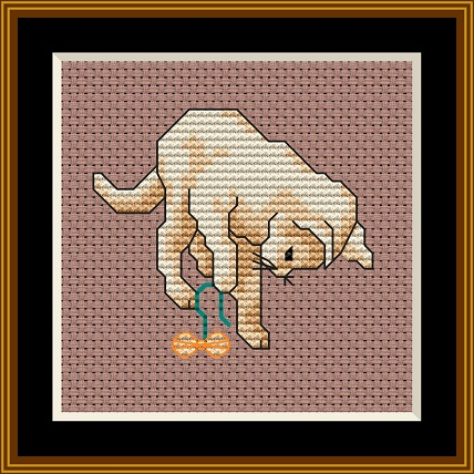 Cats At Play 1 Cross Stitch