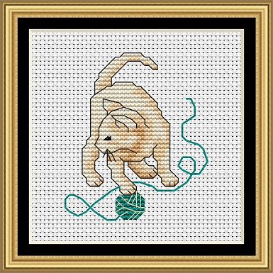 Cats At Play 2 Cross Stitch