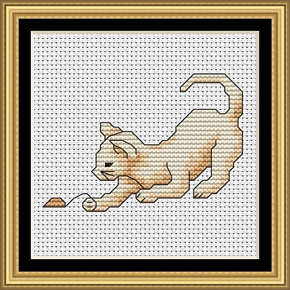 Cats At Play 4 Cross Stitch