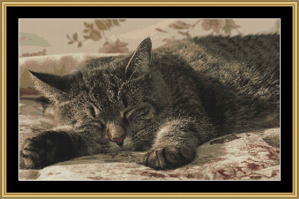 Asleep! Cross Stitch