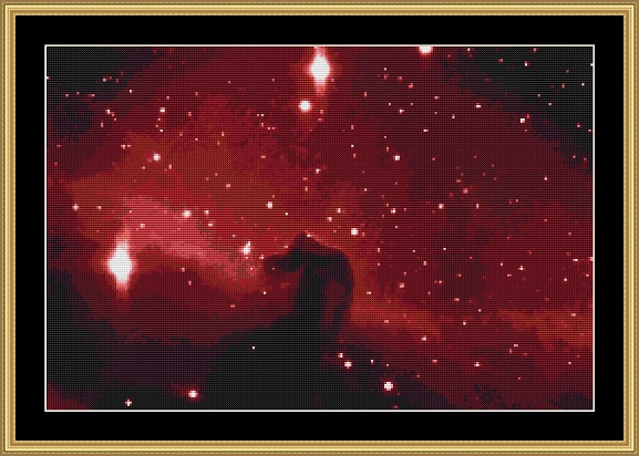 Horsehead Nebula Cross Stitch