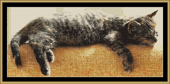 Midday Nap Cross Stitch
